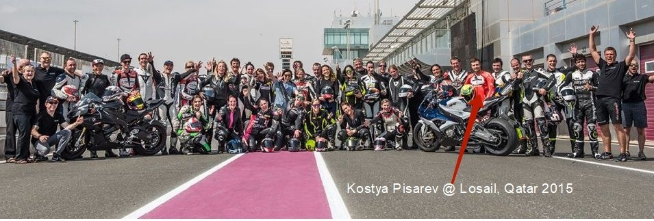 Kostya Pisarev made an instructor's sessions at Qatar under FIM Women in Motorcycling Commission