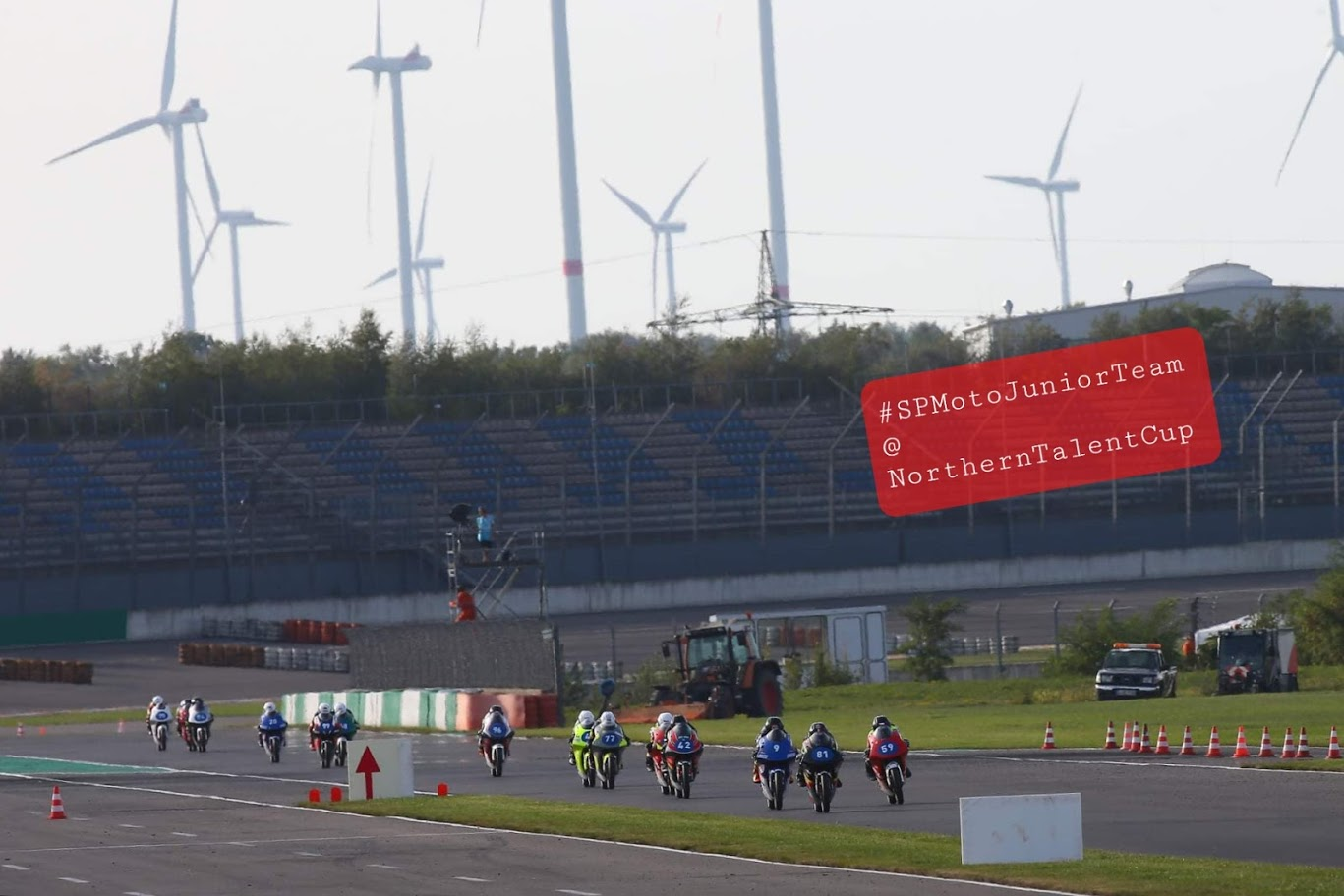 SPMotoJuniorTeam @ NorthernTalentCup. Lausitzring. Race2. Timur Kostin #17, Max Kovalev #3. 1/ 8