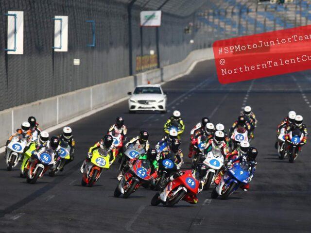 SPMotoJuniorTeam @ NorthernTalentCup. Lausitzring. Race2. Timur Kostin #17, Max Kovalev #3. 3/8