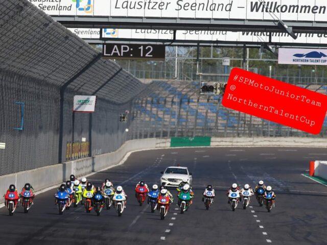 SPMotoJuniorTeam @ NorthernTalentCup. Lausitzring. Race2. Timur Kostin #17, Max Kovalev #3. 4/8