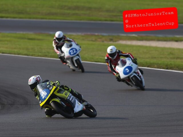 SPMotoJuniorTeam @ NorthernTalentCup. Lausitzring. Race2. Timur Kostin #17, Max Kovalev #3. 5/8