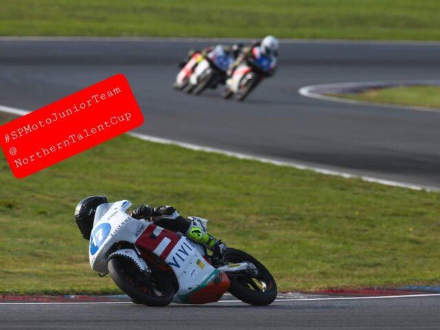 SPMotoJuniorTeam @ NorthernTalentCup. Lausitzring. Race2. Timur Kostin #17, Max Kovalev #3. 6/ 8