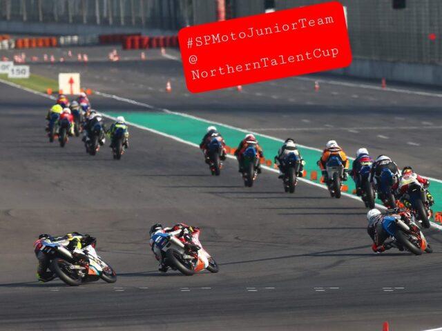 SPMotoJuniorTeam @ NorthernTalentCup. Lausitzring. Race2. Timur Kostin #17, Max Kovalev #3. 7/ 8