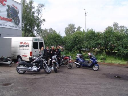 Немецкие друзья в гостях у SP-Moto.