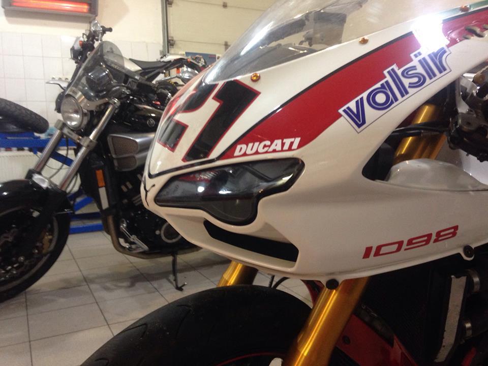 Ducati 1098S. Хроника  мотосервиса 25.01.2015 Сервисное обслуживание Ducati 1098S