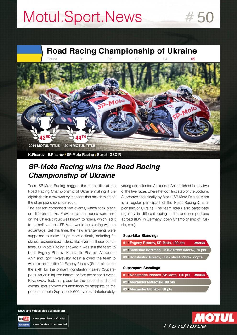 Sp-moto Racing wins the Road Racing Championship Ukraine